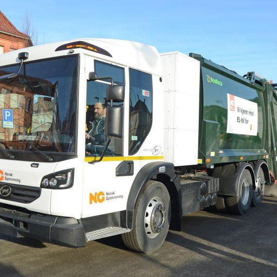 Norges første elektriske søppelbil