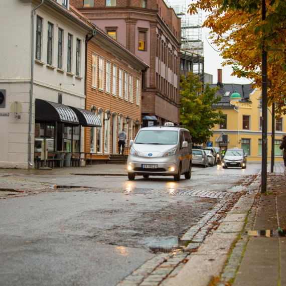 Her er Fredrikstads første elektriske taxi