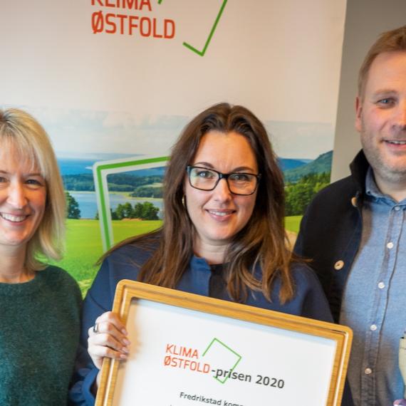 Fredrikstad kommune tildelt Klima Østfold-prisen 2020
