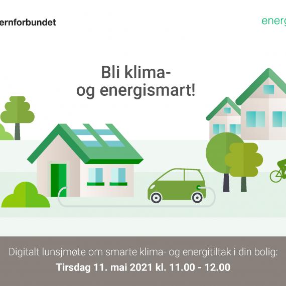 Delta på digitalt lunjsmøte om smarte klima- og energitiltak i din bolig