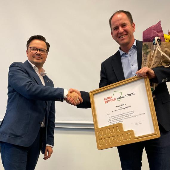 Moss havn tildelt Klima Østfold-prisen 2021